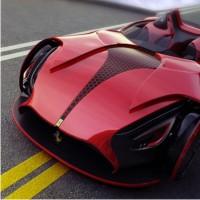 новая модель, Ferrari, концепт, Millenio, авто, новости, журнал, карбон, buckypaper